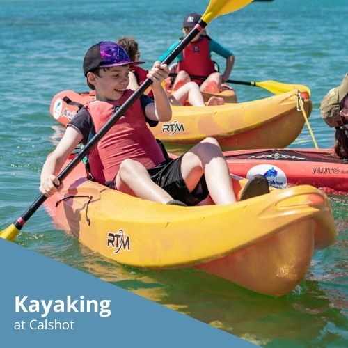 Kayaking at Calshot