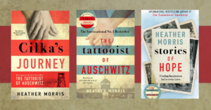 Heather Morris interview, Stories of Hope, The Tattooist of Auschwitz, Cilka's Journey